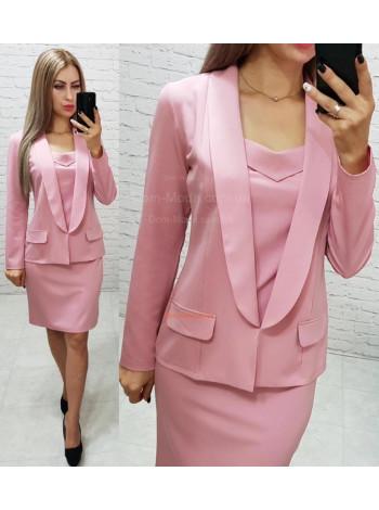 Модный женский костюм платье и пиджак