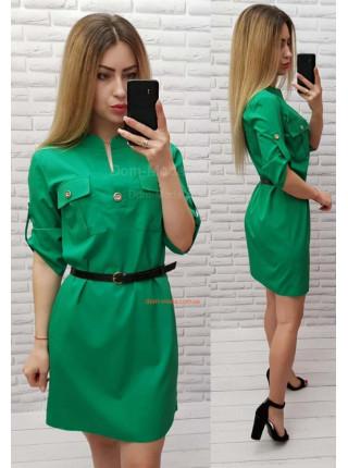 Жіноче плаття сорочка з поясом