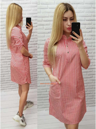 Плаття рубашка в полоску