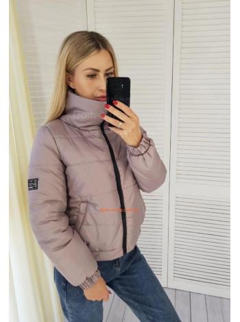 Коротка жіноча курточка з нашивкою