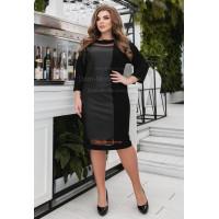 Комбинированное платье для полных женщин