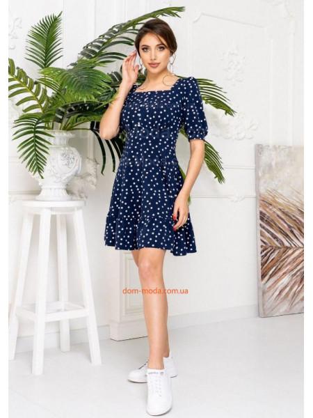 Летнее платье в мелкий горошек