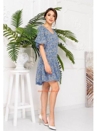 Летнее платье в мелкий цветочек