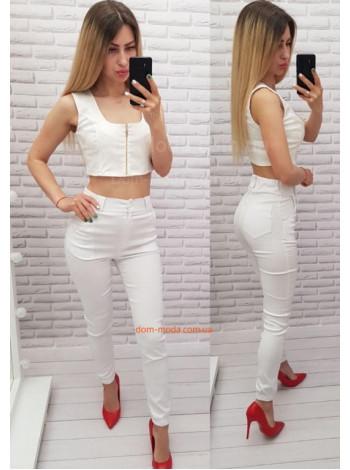 Женские джинсы скинни с высокой талией