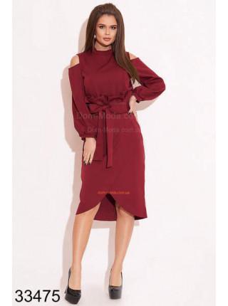 Модный женский деловой костюм с юбкой