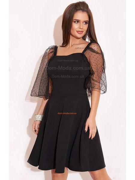 Вечернее платье с широкими рукавами