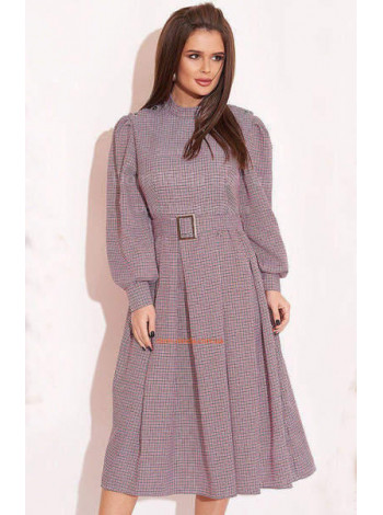 Платье миди в клетку с пышной юбкой