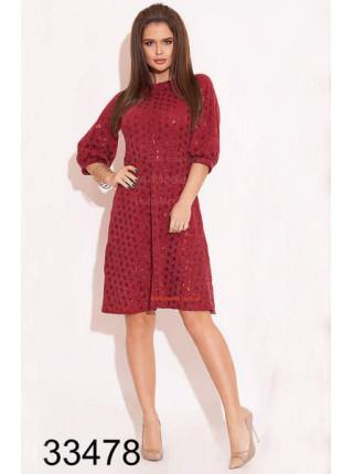Приталенное платье до колен вязка