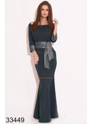 Довге вечірнє плаття русалка з рукавами