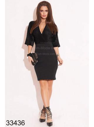 Комбинированное платье с люрексом