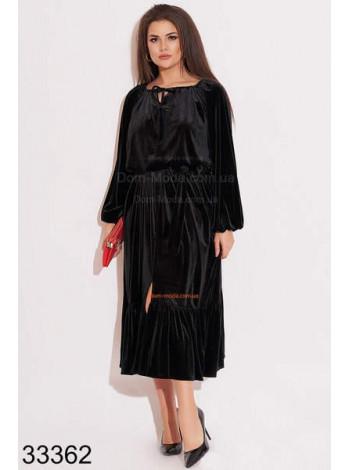 Женское платье из бархата для полных