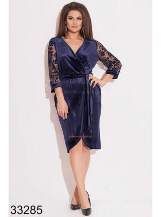 Вечернее платье из велюра для полных