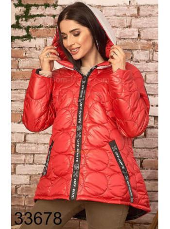 Женская куртка с трикотажным капюшоном