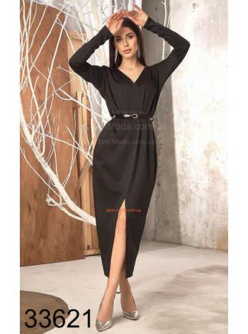 Довге трикотажне плаття з розрізом