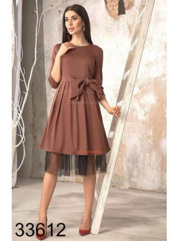 Женское нарядное платье с бантом спереди