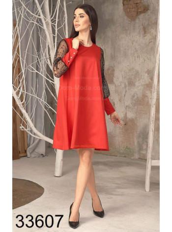 Романтическое платье с рукавами сетка