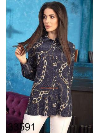 Женская блузка в принт мелкий горошек