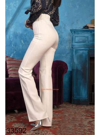 Женские белые брюки с высокой талией