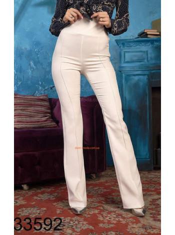 Жіночі білі брюки з високою талією