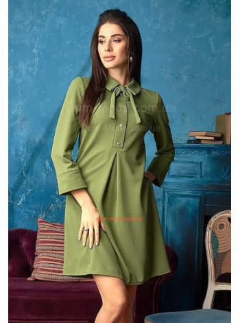 Коротке плаття з сорочковим коміром