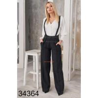 Широкие женские брюки с подтяжками