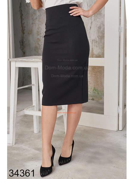 Строгая офисная юбка карандаш с завышенной талией