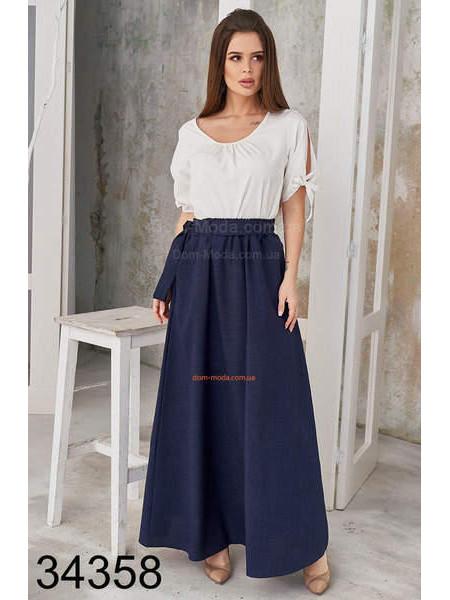 Женская юбка в складку длинная
