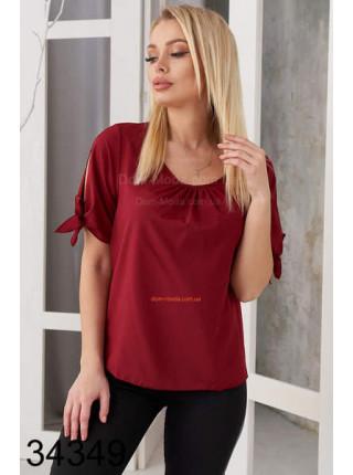 Жіноча блузка з коротким рукавом батал норма