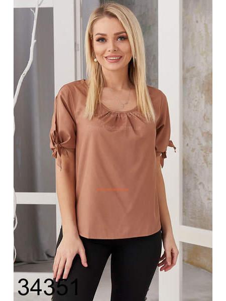 Женская блузка с коротким рукавом батал норма