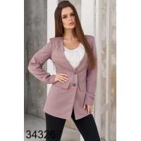 Женский удлиненный пиджак на пуговицах