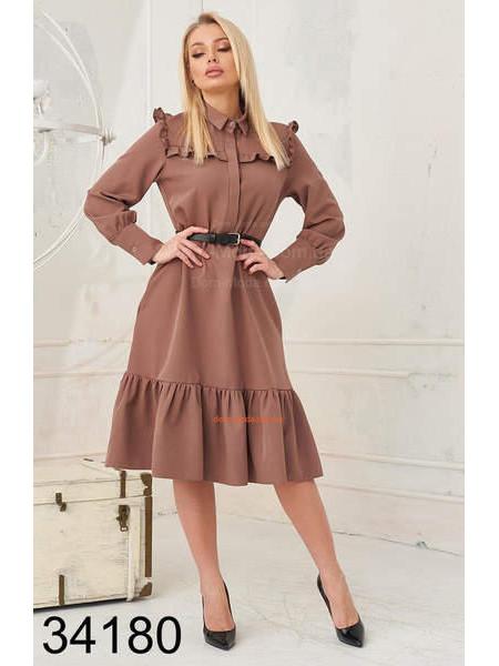Женское платье рубашка для офиса
