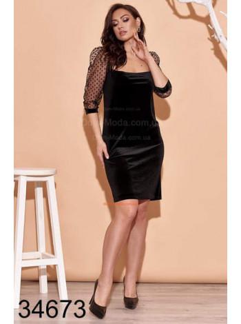 Вечірнє жіноче плаття бархатне великого розміру