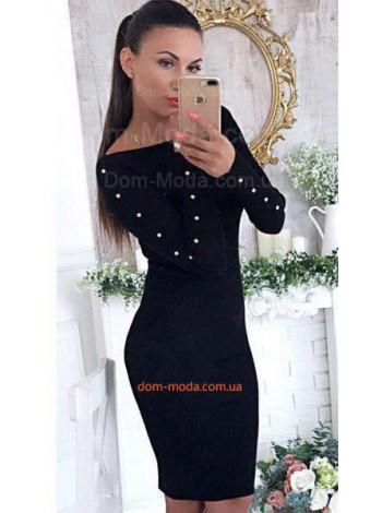Жіноче плаття в рубчик з заклепками