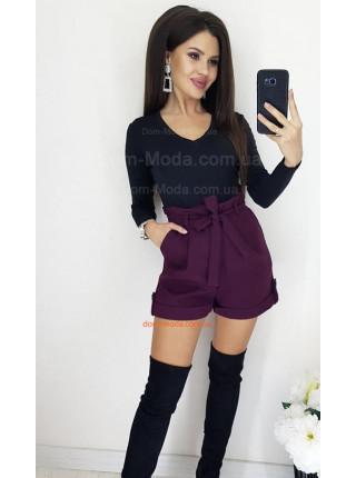 Женские короткие шорты с высокой талией