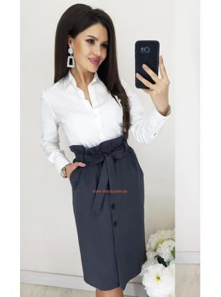 Стильная женская юбка с высокой талией