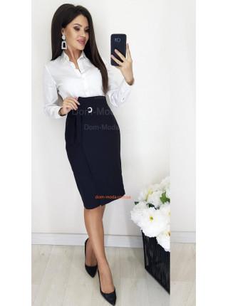 Модная женская юбка с высокой талией