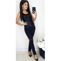 Жіночі стречева брюки із високою талією