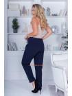 Женские синие классические брюки большого размера
