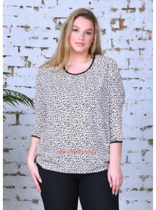 Блузка з рукавом три чверті великого розміру