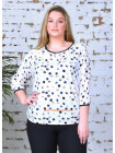 Блузка с рукавом три четверти большого размера