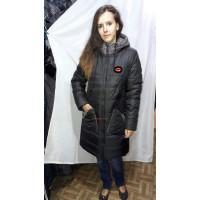 Зимняя удлиненная куртка с холлофайбером норма и батал
