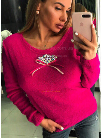 Модный свитер с камнями SWAROVSKI