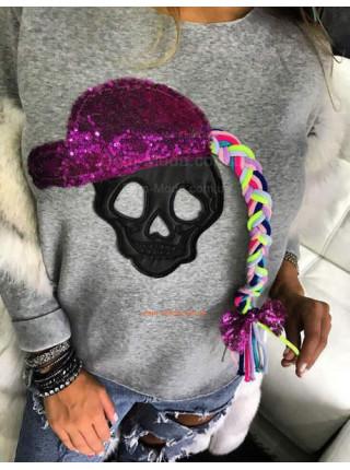Модный свитшот с черепом