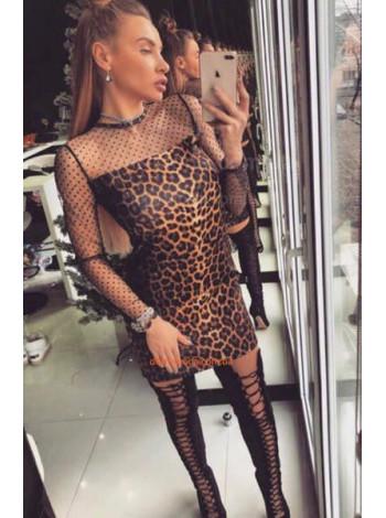 """Модное женское леопардовое платье """"Пир"""""""