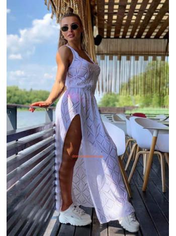 Летнее длинное платье майка