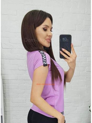 Женская футболка с лампасами