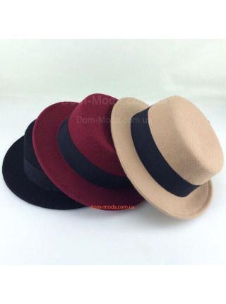 Фетровая шляпа канотье