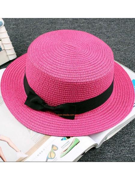Женская соломенная шляпа канотье