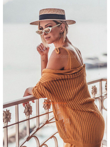 Солом'яний капелюх канотьє для жінок
