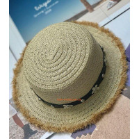Модная соломенная шляпа канотье с бахромой